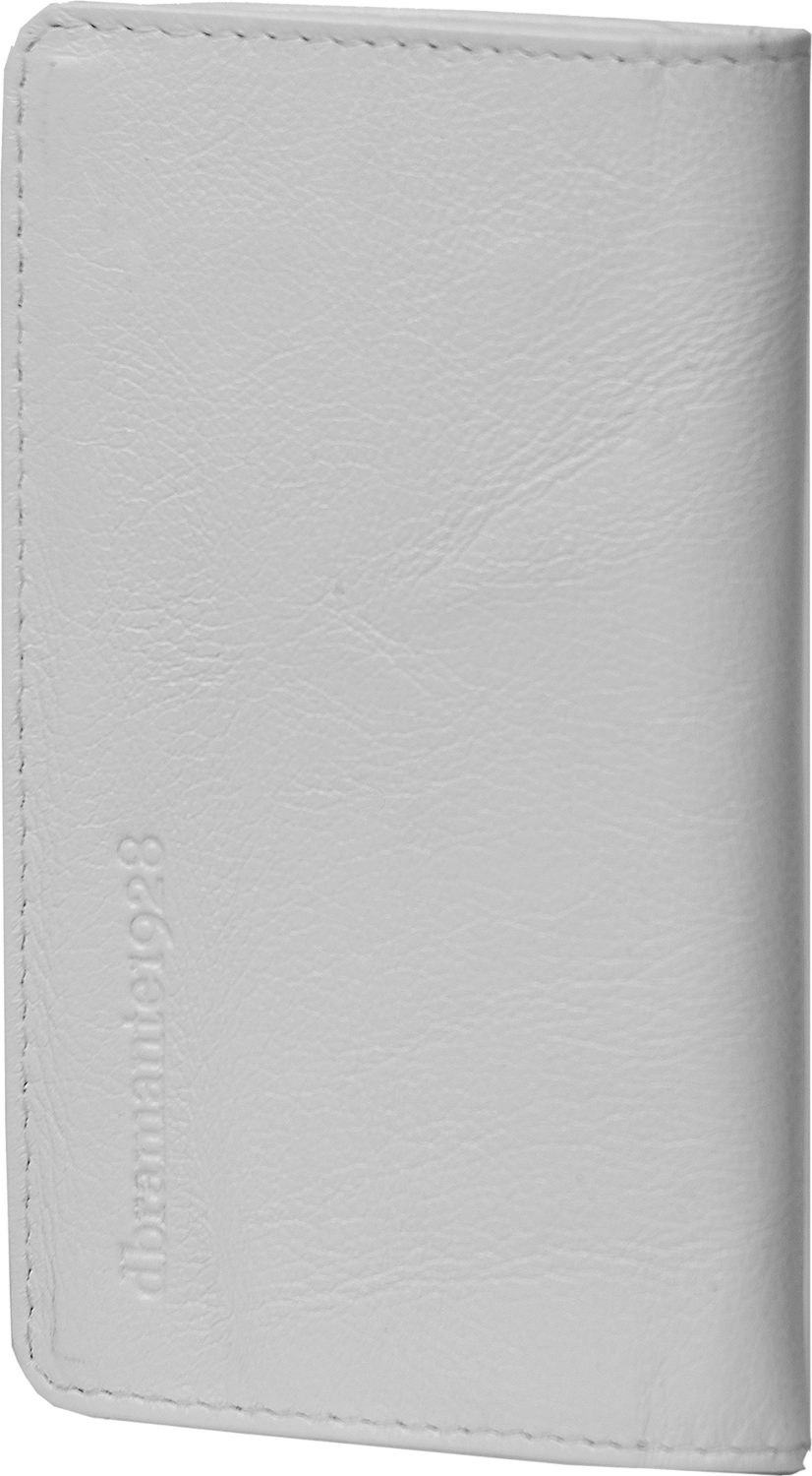 """Läs mer om D.Bramante Leather Wallet Closed 4,8"""" Smooth White"""