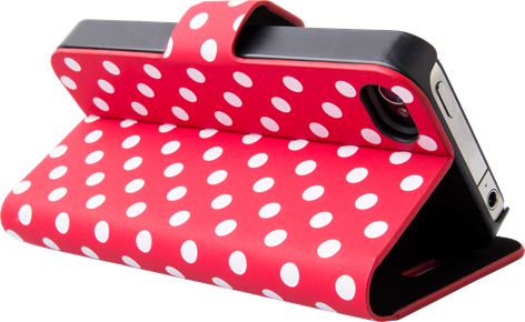 iZound Dot Wallet iPhone 4/4S Red