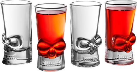 Brain Freeze Shot Glasses 4-pack