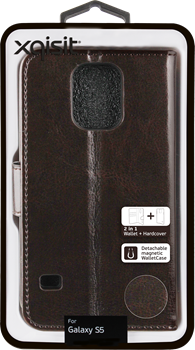 Xqisit WalletCase Eman Samsung Galaxy S5 Brown