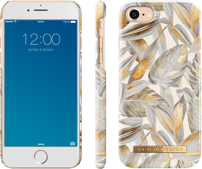 iDeal of Sweden Fashion Case iPhone 6/6S/7/8 Platinum Leaves