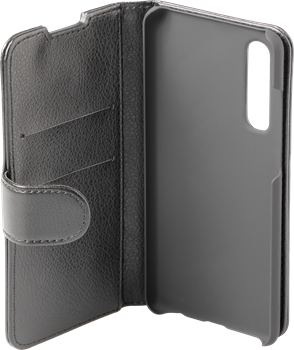 iZound Leather Wallet Case Huawei P30 Black