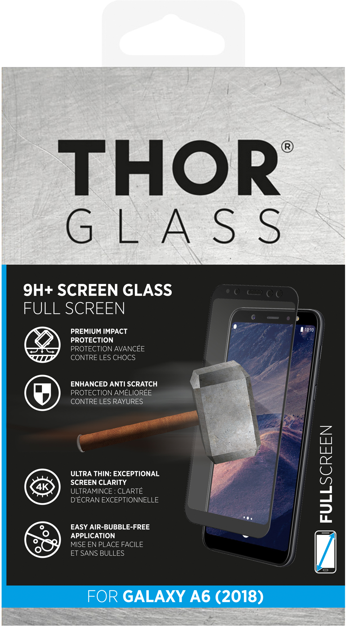 Thor Curved Glass Screen Protector Samsung Galaxy A6 (2018) thumbnail
