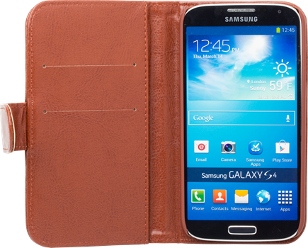 iZound Wallet Case Samsung Galaxy S4 Brown