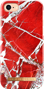 iDeal of Sweden Fashion Case iPhone 6/6S/7/8/SE Scarlet Red Marble