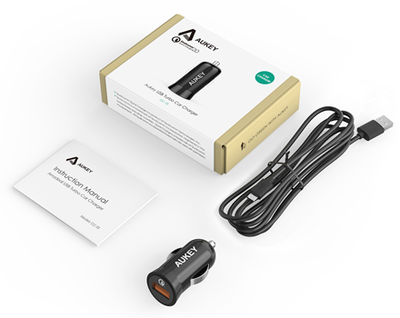 Aukey USB Turbo Car Charger CC-T5