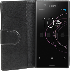 iZound Leather Wallet Case Sony Xperia XZ1 Compact Black
