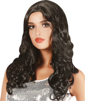 Wig Natural Look, Curly Black