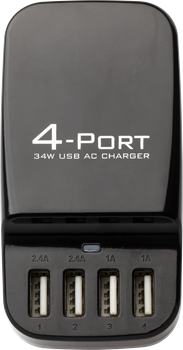 4 Ports USB travel charger