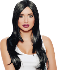 Wig Natural Look Long Black
