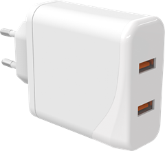 iZound Dual USB Quick Charger QC 3.0 Micro-USB