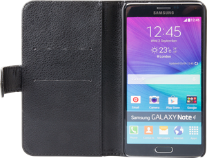 iZound Leather Wallet Case Samsung Galaxy Note 4 Black