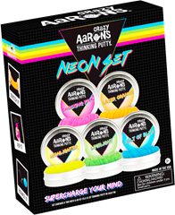 Crazy Aaron Mini Neon Thinking Putty Set