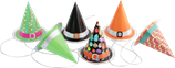 Party Hats Haloween 6-pack