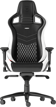 noblechairs EPIC Series Real Leather Black/White/Red
