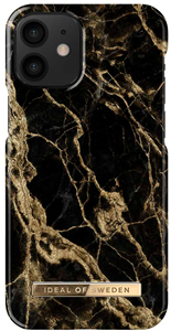 iDeal of Sweden Fashion Case iPhone 12 Mini Golden Smoke Marble