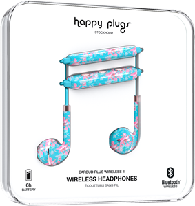 Happy Plugs Earbud Plus Wireless II Botanica Exotica