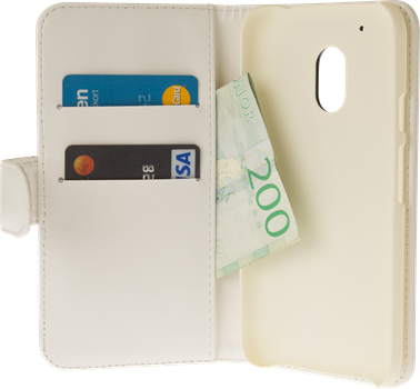 iZound Wallet Case Lenovo Moto G4 Play White