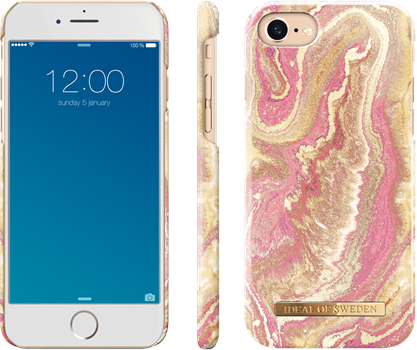 iDeal of Sweden Fashion Case iPhone 6/6S/7/8/SE Golden Blush Marble