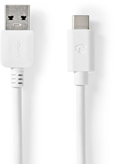 Nedis USB-C 3.1 to A Cable 2 m White