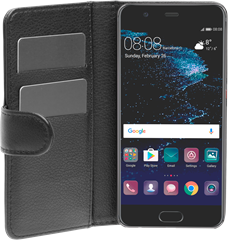 iZound Leather Wallet Case Huawei P10 Black