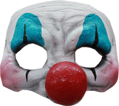 FROGLORD Halvmask Clown
