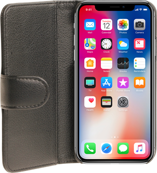iZound Leather Wallet Case iPhone X/XS Black