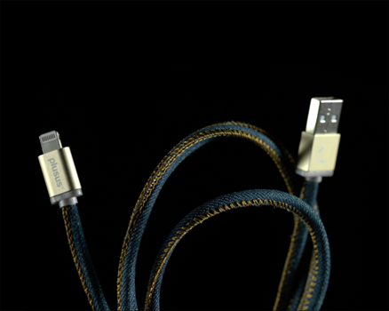 PlusUs Lifestar Lightning Cable 1 m Denim Blues