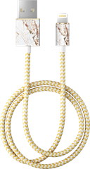 iDeal of Sweden Fashion Lightning Cable Carrara Gold 1 m