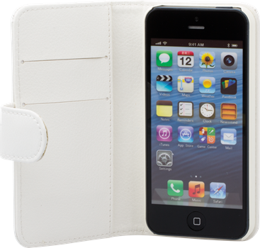 iZound Leather Wallet Case iPhone 5/5S White