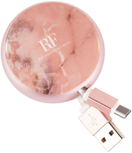 Richmond & Finch Cable Winder Pink Marble 90cm usb-c