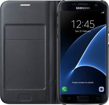 Samsung LED Flip Cover Galaxy S7 Black