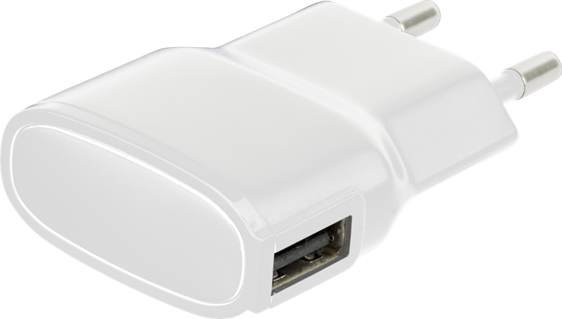 X Power USB Charger 1A White: Superslimmad reseladdare med
