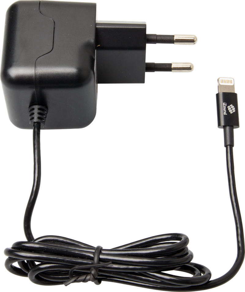 iZound Lightning Wall Charger 2,4 A Black: Lightning laddare