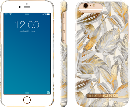 iDeal of Sweden Fashion Case iPhone 6/6S/7/8 Plus Platinum Leaves