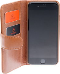 iZound Leather Wallet Case iPhone 7/8/SE Brown
