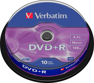 Verbatim DVD+R 10-pack (CakeBox)