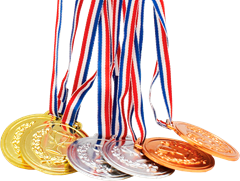 Medals Gold, Silver & Bronze 6-pack