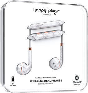 Happy Plugs Earbud Plus Wireless II White Marble