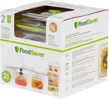 FoodSaver FFC015X Fresh Container 2-pack (0,7L & 1,2L)