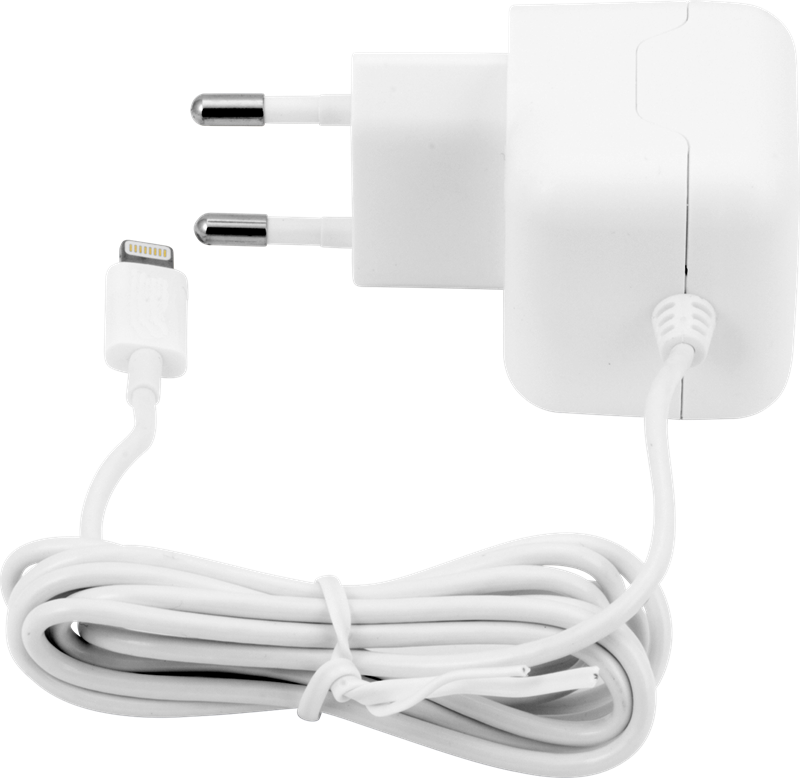 iZound Lightning Wall Charger 2,4 A White: Lightning laddare