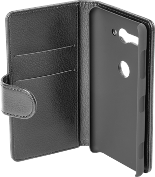 iZound Leather Wallet Case Sony Xperia XZ2 Compact Black