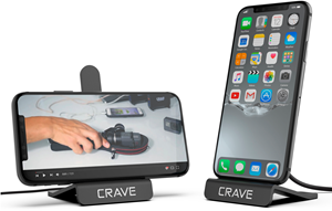 CRAVE Wireless Charger Black Compact Stand